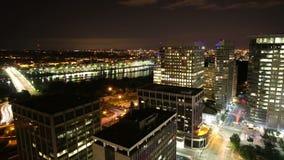 Dc city bright night time lapse stock video