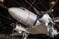 DC3 Dakota i museum fotografering för bildbyråer