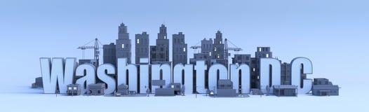 DC de Washington, ville dans 3d rendent illustration stock
