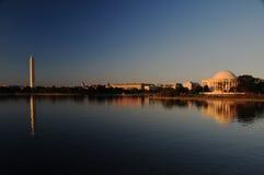 DC di Washington al crepuscolo fotografia stock