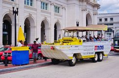 A DC Ducks duck tour amphibious vehicle in Washington DC Stock Photos