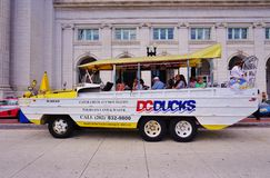 A DC Ducks duck tour amphibious vehicle in Washington DC Royalty Free Stock Image