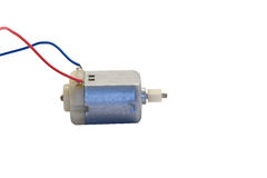 DC Electric Motor. Direct Current - DC - Electric motor with wires against white background Royalty Free Stock Photo