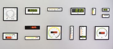 DC electrical measuring instruments. On stand royalty free stock photo