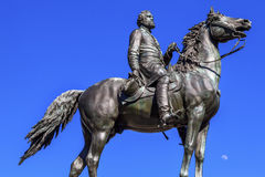 DC för general George Thomas Civil War Statue Moon Thomas Circle Washington Royaltyfri Foto
