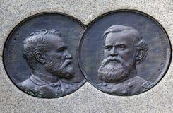DC för general McPherson Medaljong Sherman Memorial Washington Arkivbilder