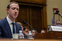 DC: FACEBOOK CEO MARK ZUCKERBERG TESTIFIES IN FRONT OF US CONGRESS Stock Photo