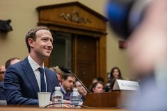 DC: FACEBOOK CEO MARKg IN FRONT OF US CONGRESS royalty free stock photography
