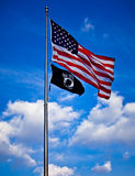 dc flags powmiaen tillstånd förenade washington Arkivbilder