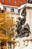DC för dam Liberty General Rochambeau Statue Washington Arkivbilder