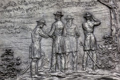 DC för general Sherman Bas Civil War Memorial Washington Royaltyfria Bilder