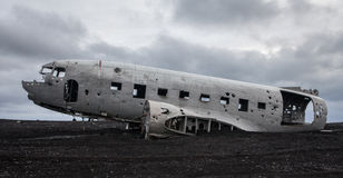 DC3 in Iceland Royalty Free Stock Photo