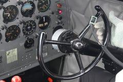 DC3 kokpitu sterowania pilot Fotografia Royalty Free