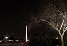 dc lights monument washington στοκ εικόνα