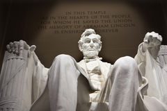 dc Lincoln pamiątkowy statuy Washington biel Obrazy Stock