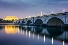 DC linia horyzontu Obrazy Royalty Free