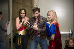 DC and Marvel Comic Characters at Baltimore Comicon Royalty Free Stock Image