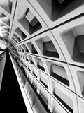 The District Monochromatic subway grid modern art. DC metro rail lines in high contrast artistic look Stock Photos