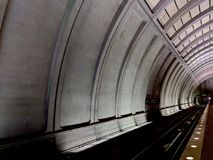 DC Metro Tunnel with Lights royalty free stock images