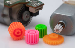 DC Motor and Gears Royalty Free Stock Photo