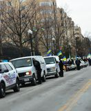 Dc-polisen på Ukraina protesterar Royaltyfri Fotografi