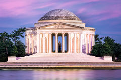 dc pomnik Jefferson Washington Zdjęcia Royalty Free