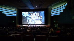 DC premiere of the film documentary Salad Days at the American Film Institute. The question and answer session after the screening of Salad Days, a documentary royalty free stock photo