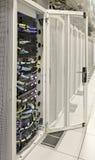 DC Rack open door vertical Stock Photo