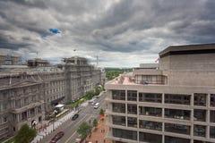 dc-rooftopsikt washington Arkivbilder