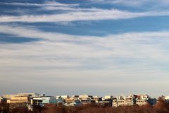 The DC skyline during Winter Stock Image