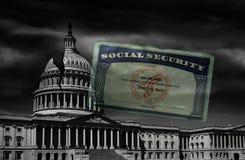 Dc-socialförsäkringkort arkivbilder