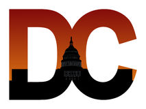 DC with US capitol building Royalty Free Stock Photography