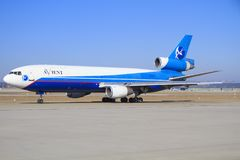 DC-10 van Avientlijnvliegtuigen Stock Afbeelding