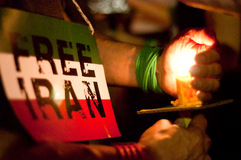 DC Vigil for Iran Royalty Free Stock Image