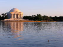 dc zmierzchu Jefferson memorial Washington Zdjęcia Royalty Free