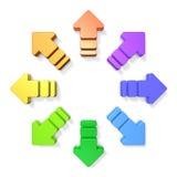 3DCG abstrait représentant la diffusion Image libre de droits