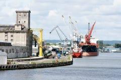 Déchargement du bateau Image stock