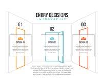 Décision Infographic d'entrée Images stock