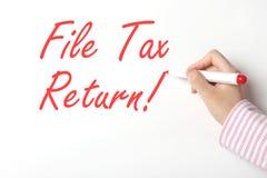 Déclaration d'impôt de dossier Image stock
