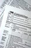 Déclaration de l'impôt 1040, plaine, concept simple Photo stock