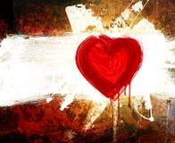 Déclaration grunge d'art de l'amour Photographie stock libre de droits