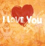 Déclaration grunge d'art de l'amour Photo stock