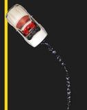 Décomposé avec la flaque de pétrole - route britannique Images libres de droits
