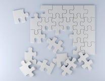 Déconcertez sur l'illustration blanche de l'équipe 3D d'affaires de fond Photo stock