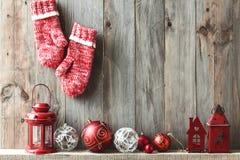 Décor à la maison de Noël Images libres de droits