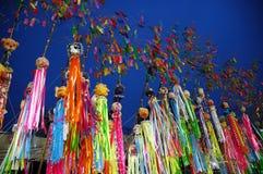Décoration colorée de papier de souhait Image stock