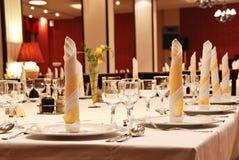 Décoration de table de réception de mariage Images libres de droits