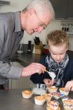 Décoration des gâteaux Photo stock