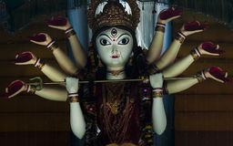 Dcoration of Durga idol Stock Photography