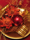 Décorations 2 de bougie de Noël Photo libre de droits